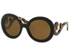Prada PR 27NS Sunglasses in 1AB5Y1 Black Polar Brown