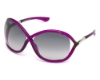 Tom Ford FT0009 Whitney Sunglasses in 75B Shiny Fuxia / Gradient Smoke