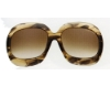 Tom Ford FT0083 Bianca Sunglasses in (U45) Melange Brown-Yellow w/Gradient Brown Lenses