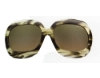 Tom Ford FT0083 Bianca Sunglasses in (U46) Melange Olive Green w/Gradient Honey Green Lenses