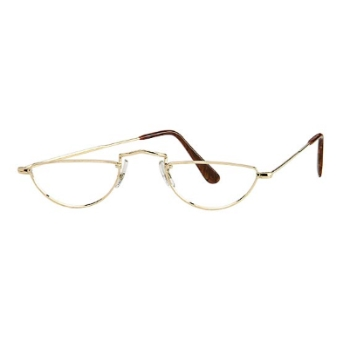 Savile Row 18KT Executive Half-Eye Eyeglasses