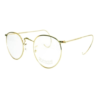Savile Row 18KT Beaufort Panto Cable Temples Eyeglasses