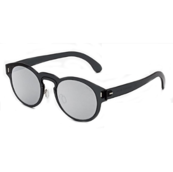 Super Duo Lens Paloma I457 M2G Silver & Black Sunglasses