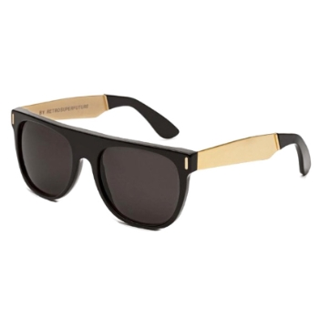 Super Flat Top IHJU NIM Francis Black/Gold Large Sunglasses