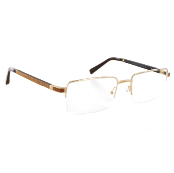 Gold & Wood Crypton Eyeglasses