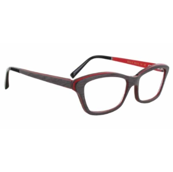 Gold & Wood Ecla Eyeglasses
