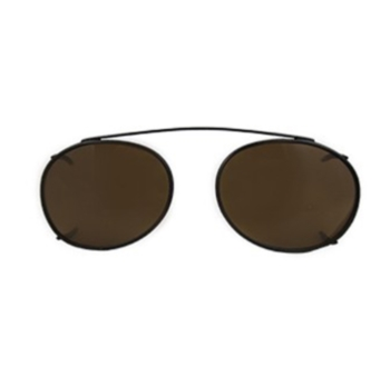 Hilco Traditional Oval Sunclip - Black Sunglasses