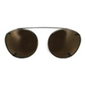 Hilco Traditional Round Sunclip - Pewter Sunglasses