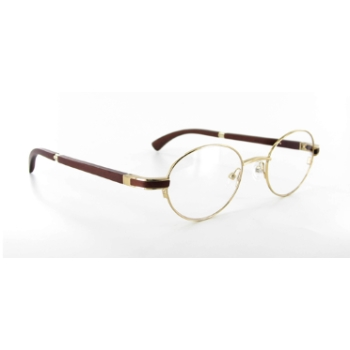Gold & Wood I15.6 Eyeglasses