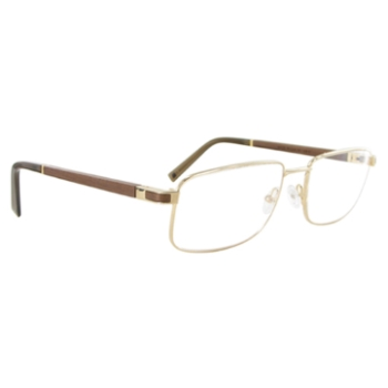 Gold & Wood I28.6 Eyeglasses