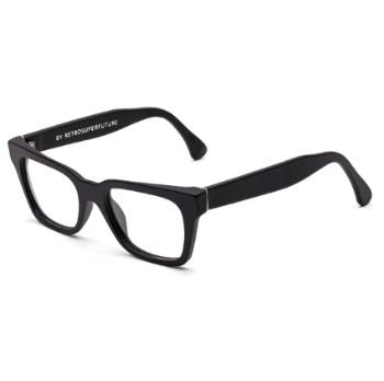 Super America IAXI 16O Black Matte Large Eyeglasses