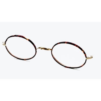 Berkshire Chase Berkshire Saddle Oval Chestnut Front Rimed w/ Half Covered Polo Temples Eyeglasses