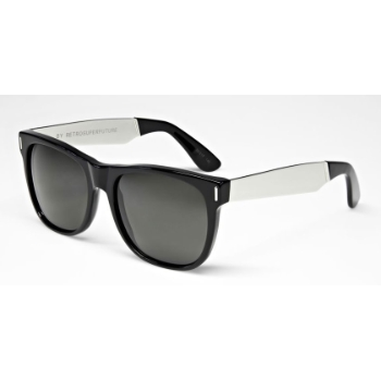 Super Basic Black/Silver Metal & Black 768 Sunglasses