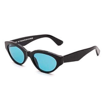 Super Drew I4PC 4D7 Black Turquoise Sunglasses