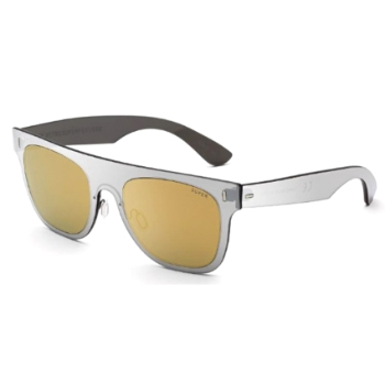 Super Duo Lens Flat Top IGKI VF9 Gold Silver Large Sunglasses