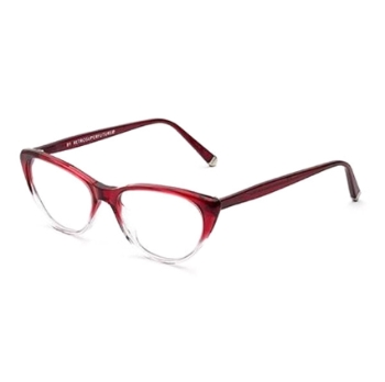 Super Numero 49 IEH0 7XM Bordeaux Faded Eyeglasses
