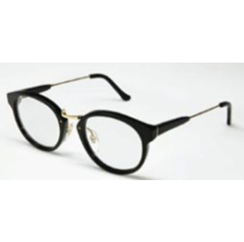 Super Panama Black/Yellow Gold Metal & Black 613 Eyeglasses