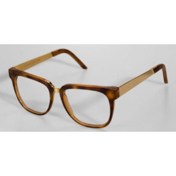 Super People Havana/Gold Metal 349 Eyeglasses