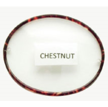 Berkshire Chase Berkshire English Beaufort Chestnut Front Rimed w/ Half Covered Polo Temples Eyeglasses