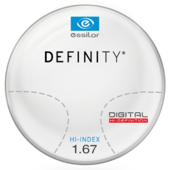 Essilor Definity® Digital by Essilor Hi-Index 1.67 Progressive Lenses