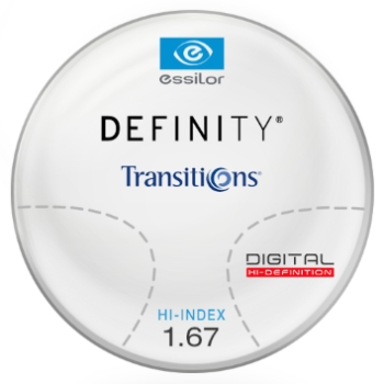 Essilor Definity® Digital by Essilor Transitions® SIGNATURE VII - [Gray] Hi-Index 1.67 Progressive Lenses
