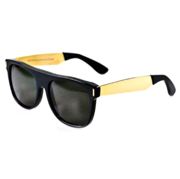 Super Flat Top Francis Black/Gold 180 Sunglasses