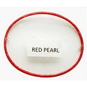 Berkshire Chase Berkshire English Round Red Pearl Front Rimed w/ Covered Polo Temples Eyeglasses