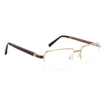 Gold & Wood Castor Eyeglasses
