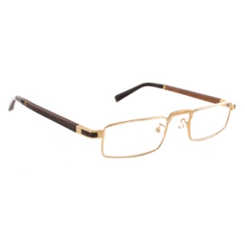 Gold & Wood Centaur Eyeglasses