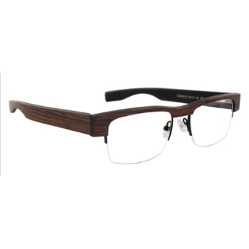 Gold & Wood Gamma Eyeglasses