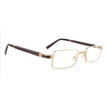 Gold & Wood Matar Eyeglasses