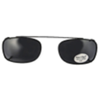 Hilco Traditional Rectangle Sunclip - Black Sunglasses