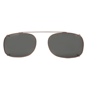 Hilco Traditional Rectangle Sunclip - Bronze Sunglasses