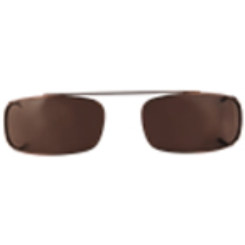 Hilco Traditional Low Rectangle Sunclip - Bronze II Sunglasses