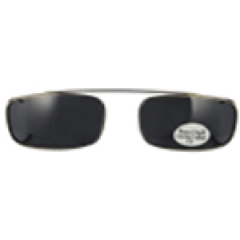 Hilco Traditional Low Rectangle Sunclip - Pewter II Sunglasses