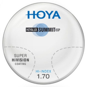 Hoya Hoya Summit ECP Hi-Index 1.70 W/ Super HiVision AR Progressives Lenses