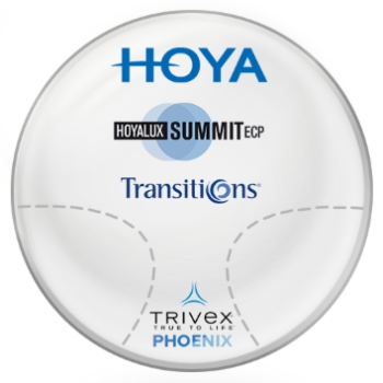 Hoya Hoya Phoenix Trivex Summit ECP Transitions® SIGNATURE VII [Gray] Progressives Lenses