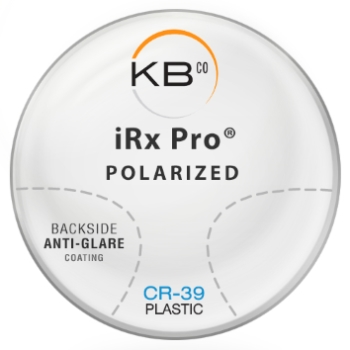 KBco iRx Pro® Polarized W/Back side AR coating  Plastic CR-39 Color Violet Progressive Lenses