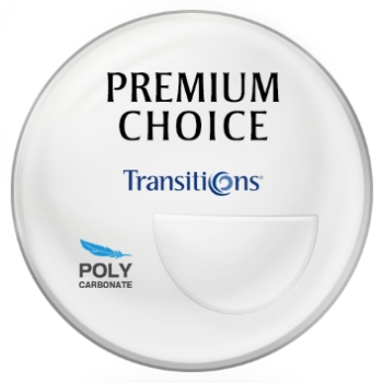Premium Choice Transitions® - [Gray or Brown] Polycarbonate Bi-Focal FT-28 Lenses