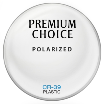 Premium Choice Polarized [Brown] Plastic CR-39 Plano Lenses