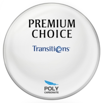 Premium Choice Transitions® SIGNATURE VII - [Brown] Polycarbonate Plano Lenses