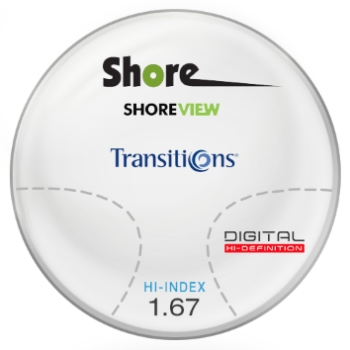 Shore View Digital Transitions® SIGNATURE VII [Grey or Brown] High Index 1.67 Progressive Lenses