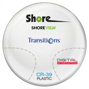 Shore View Digital Transitions®  VII [Graphite Green] CR-39 Plastic Progressive Lenses