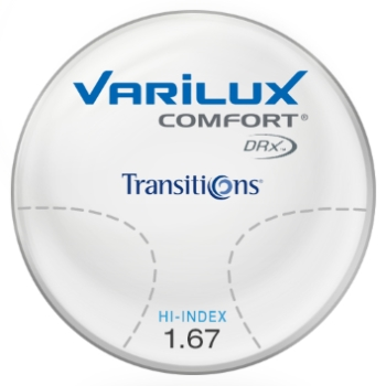 Varilux Varilux Comfort DRx® Transitions® Signature™ VII Green Hi-Index 1.67 Lenses