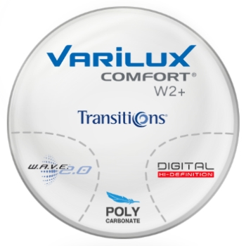 Varilux Varilux Comfort W2+ Transitions® SIGNATURE VII [Grey or Brown] Polycarbonate Progressive  Lenses