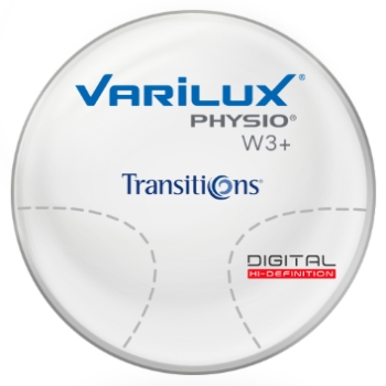 Varilux Varilux Physio W3+ Transitions® Signature VII™ (Gray or Brown) Plastic CR-39 Progressive Lenses