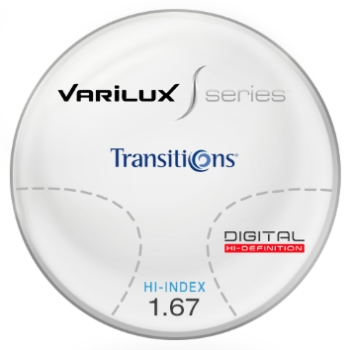 Varilux S Design Transitions® SIGNATURE VII [Grey or Brown] Hi-Index 1.67 Progressive Lenses