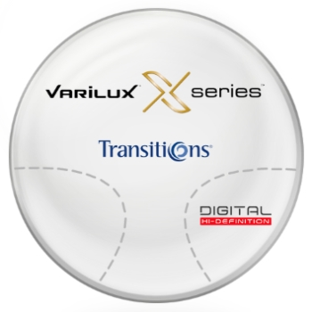 Varilux Varilux X Series™ Transitions® SIGNATURE VII- [Gray or Brown] Basic Plastic CR-39 Progressive Lenses