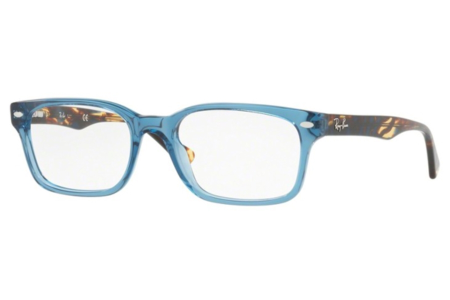 Ray-Ban RX 5286 Eyeglasses in 8024 Shiny Trasparent Blue
