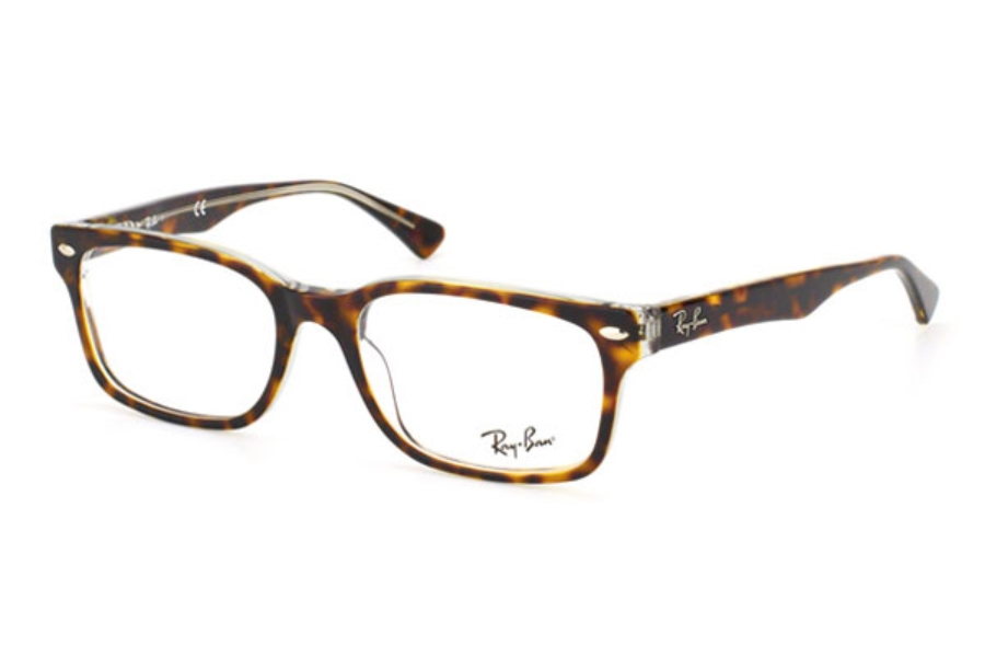 Ray-Ban RX 5286 Eyeglasses in 5082 Top Havana On Transparent (51 eye size only)